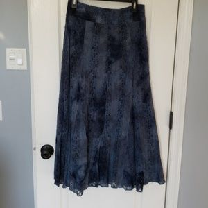 gorgeous blue boho skirt excel cond